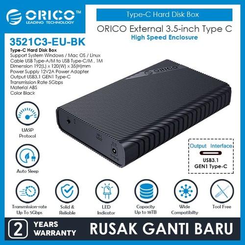 ORICO 3.5 inch HDD Enclosure Type C - 3521C3