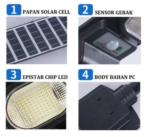 Lampu Jalan PJU 100WATT Lampu Jalan Led Solar Cell 100W