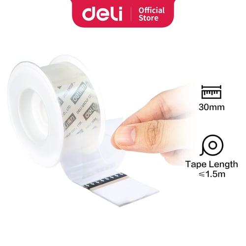 Deli Double tape transparan bau tidak menyengat 33605