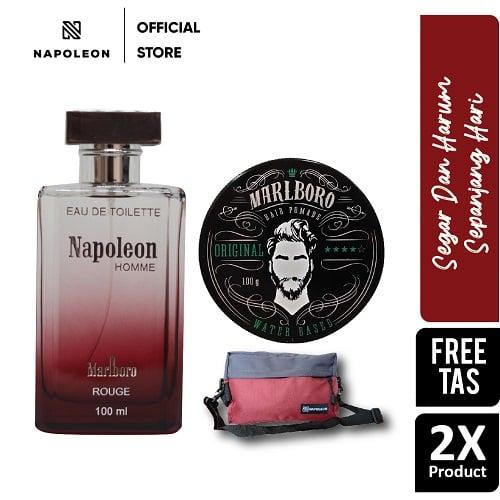 Pomade Marlboro Waterbased Original  + EDT Napoleon Rouge