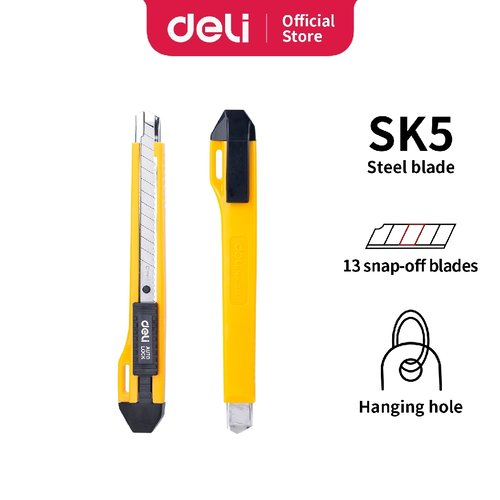 Deli Cutter dengan pisau baja SK5 sistem kunci manual untuk penggunaan yang aman E2031