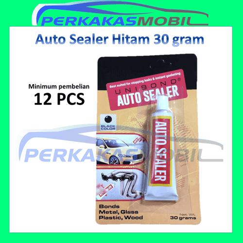 Lem perekat Auto Sealer UNIBOND Hitam Black Glue anti bocor Kecil 30gr