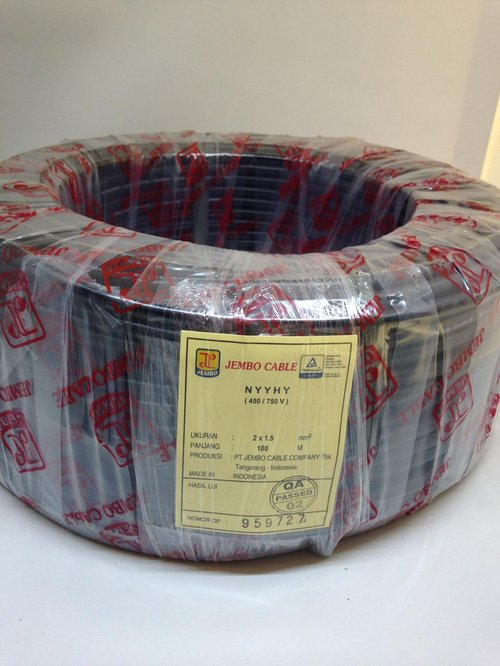 Kabel NYYHY 2X1.5mm (100Meter) Merk Jembo