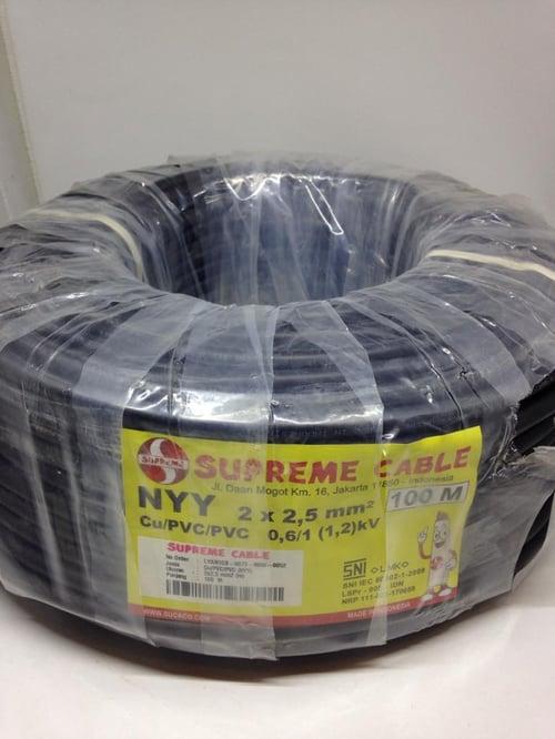 Kabel NYY 2x2.5mm Merk Supreme(100 Meter)