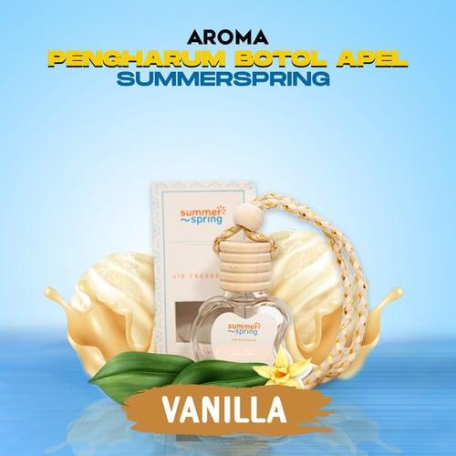 Pengharum Gantung Botol Apel Summerspring Untuk Mobil / Ruangan / Kamar / Kamar Tidur / Toilet / WC / Pewangi Tahan Lama - Aroma Vanilla