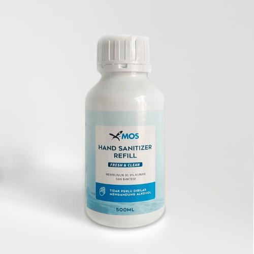X-MOS Hand Sanitizer Gel / Liquid Refill 500ml - (Alkohol Food Grade 70 Percent)