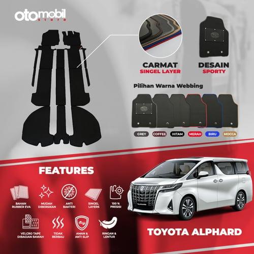 Karpet Mobil Toyota Alphard Bahan Single Layer Rubber Eva Premium