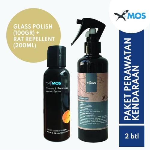 X-MOS Paket Hemat Car 1 - Pengusir Tikus Rat Repellent 250ml + Glass Polish 100g