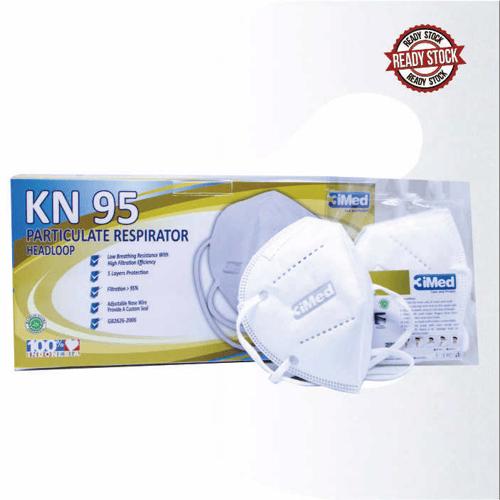 Masker KN95 Particulate Respirator Headloop Isi 50
