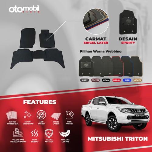 Karpet Mobil Mitsubishi Triton Bahan Single Layer Rubber Eva Premium