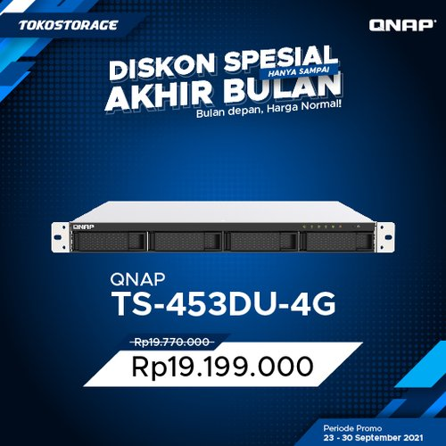 QNAP TS-453DU 4 Bay Rackmount NAS Private Cloud Storage TS453DU
