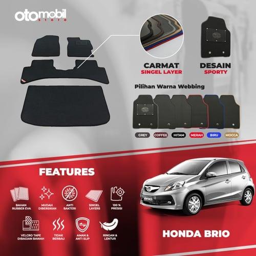 Karpet Mobil Honda Brio Bahan Single Layer Rubber Eva Premium