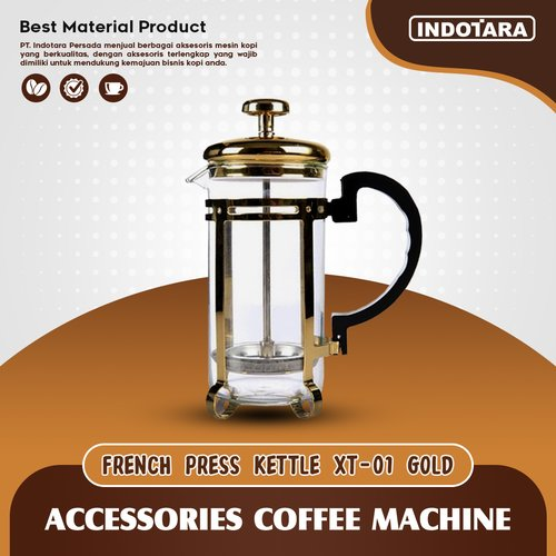 French Press Coffee / Coffee Maker Tea Plunger 350ML - XT01 Gold