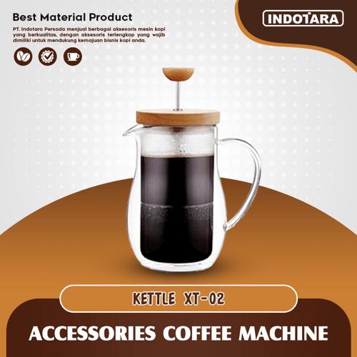 French Press Coffee / Coffee Maker Tea Plunger 600ML - XT02