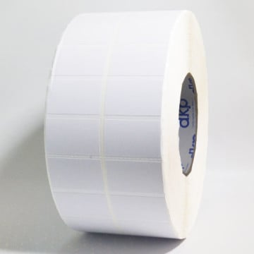 Label Semicoated 40mm x 25mm, 2UP