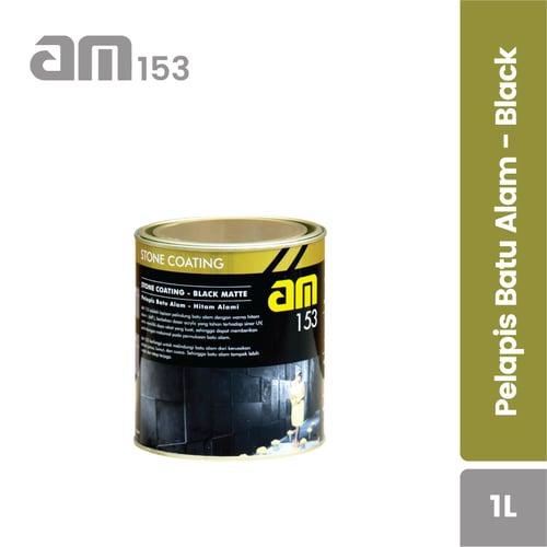AM 153 Black Glossy - Pelapis Batu Alam kemasan 1liter