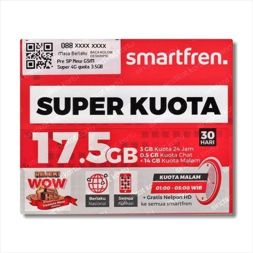 Kartu Perdana Super Kuota Smartfren 17.5 GB