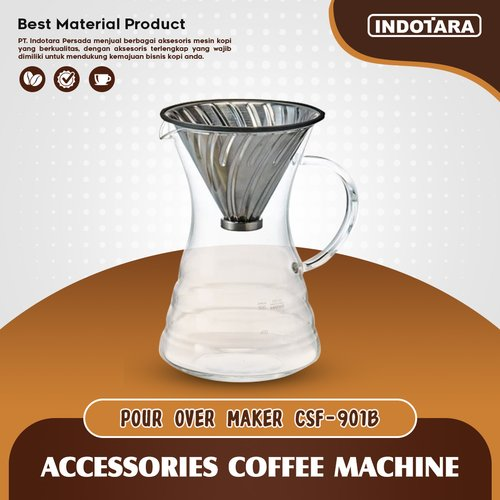 Server V60 Glass Pour Over Coffee Maker - CSF901B