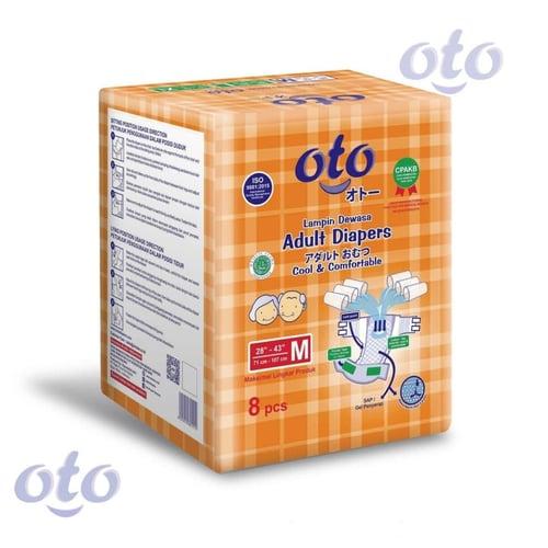 OTO Diapers Adult / Popok Dewasa model Perekat ukuran M-isi 8 pcs (OT-8M)