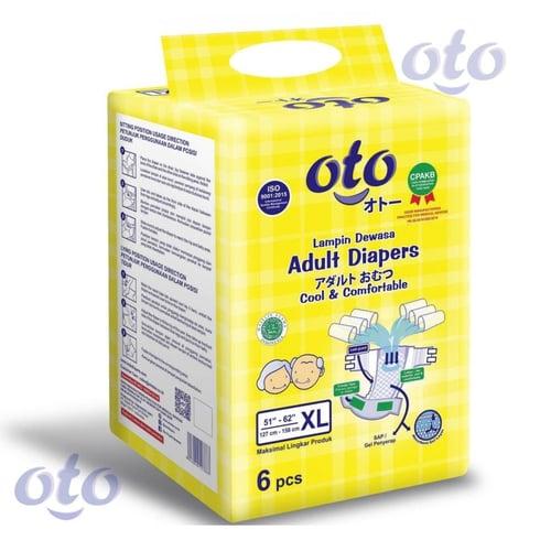 OTO Diapers Adult / Popok Dewasa model Perekat ukuran XL-isi 6 pcs (OT-6XL)
