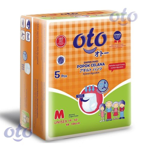 OTO Diapers Adult Pants / Popok Dewasa model Celana size M isi 5 pcs (OTP-5M)