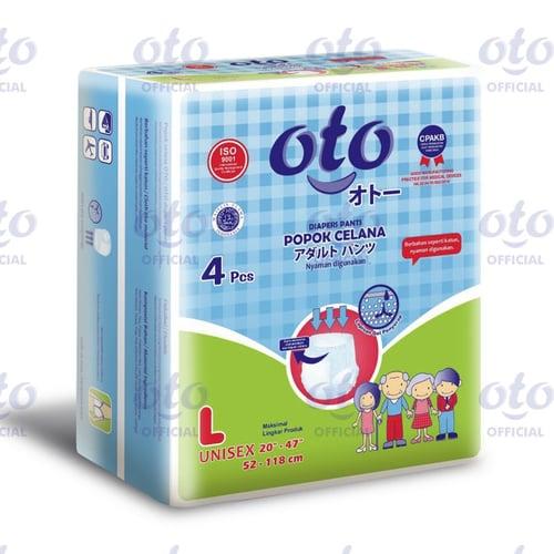 OTO Diapers Adult Pants / Popok Dewasa model Celana size L isi 4 pcs (OTP-4L)