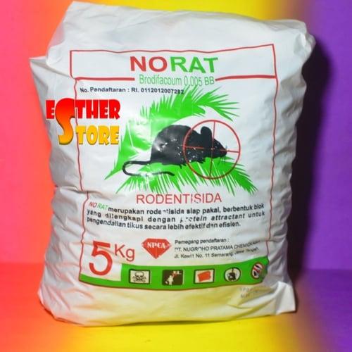Rodentisida Norat 0,005 BB 5 kg Umpan Racun Tikus Ampuh Bahan Aktif Brodifakum