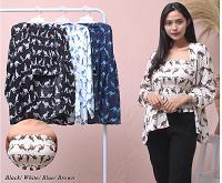 Baju stelan wanita baju murah baju bagus baju 1set 4warna bahan halus dan lembut inner outer CB11