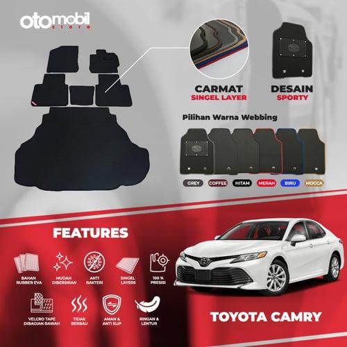 Karpet Mobil Toyota Camry Bahan Single Layer Rubber Eva Premium