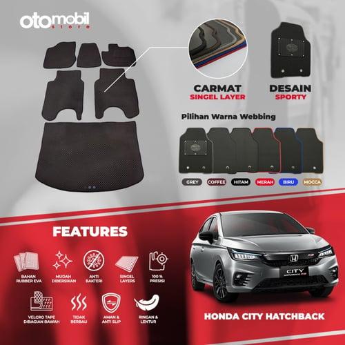 Karpet Mobil Honda City Hatchback Single Layer Rubber Eva Premium