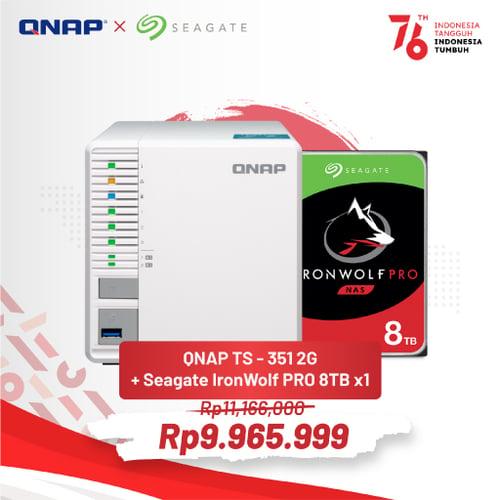 QNAP TS-351 2G + SEAGATE IronWolf PRO 8TB PROMO MERDEKA