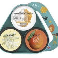 THE BODY SHOP GIFT SET TRIO BUTTER POUCH