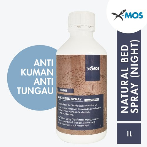 X-MOS Natural Bed Spray Night 1L (Refill) - Anti Bacterial