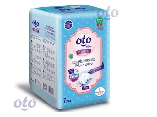 OTO Diapers for Adult Popok Dewasa Premium & Daya Serap Lebih Banyak model Perekat ukuran L - isi 7 pcs (OP-7L)