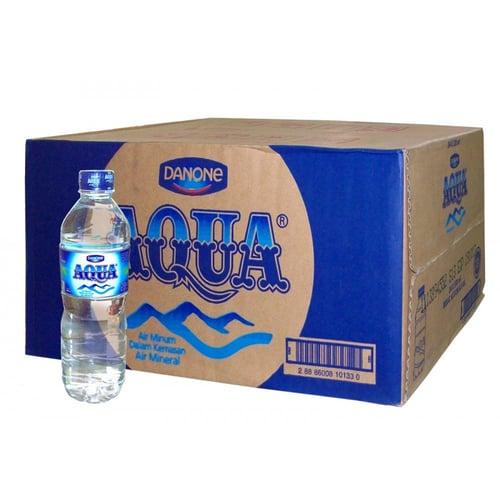 AQUA Botol 600ml Isi 24 per Karton