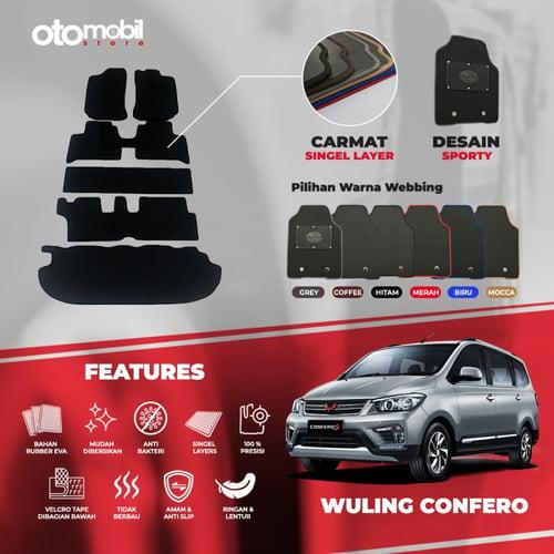 Karpet Mobil Wuling Confero Bahan Single Layer Rubber Eva Premium