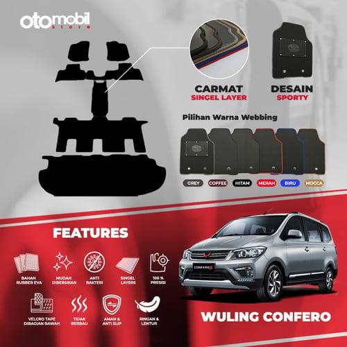 Karpet Mobil Wuling Confero Cap. Seat Single Layer Rubber Eva Premium