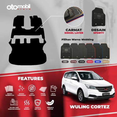 Karpet Mobil Wuling Cortez Bahan Single Layer Rubber Eva Premium