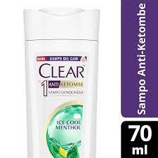 Clear Anti Ketombe Ice Cool Menthol Shampoo 70ml