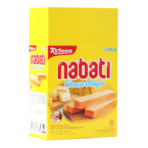 RICHEESE Wafer Nabati Keju 10gr 1 Box Isi 20pcs