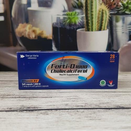 Forti D-1000 Box 28 Kapsul Lunak - Vitamin D3 1000 IU