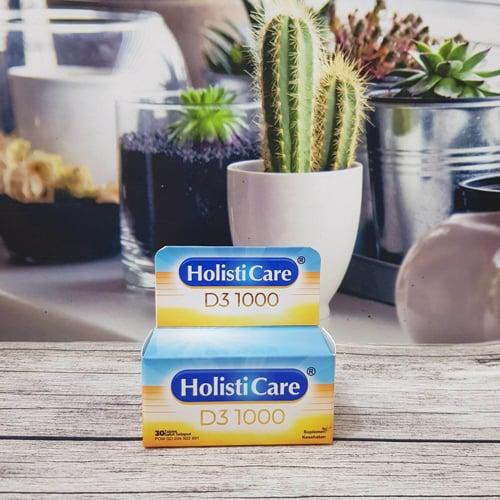 HolistiCare D3 1000 per Botol isi 30 Tablet- Vitamin D3-1000 IU