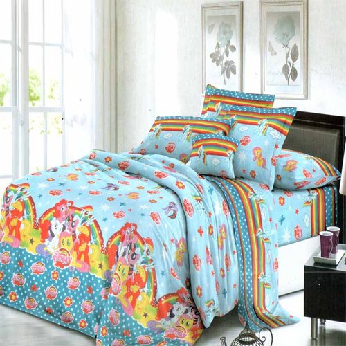 ROSEWELL BedCover Microtex 180x200cm Little Pony Biru