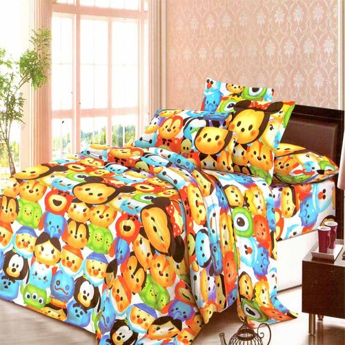 ROSEWELL Bed Cover Microtex Disperse 180x200cm Tsum Tsum