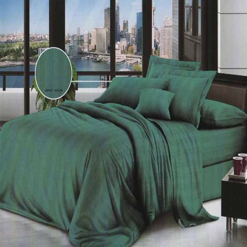 ROSEWELL Bed Cover Microtex Emboss Salur 160x200cm Toska Tua