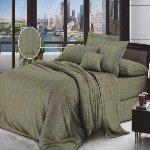 ROSEWELL Bed Cover Microtex Emboss Salur 160x200cm L Green