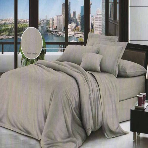 ROSEWELL Bed Cover Microtex Emboss Salur 200x200cm L Brown