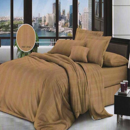 ROSEWELL Bed Cover Microtex Emboss Salur 160x200cm Coklat