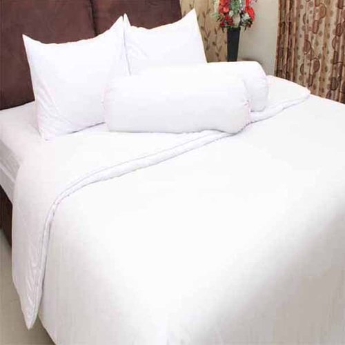 ROSEWELL Bed Cover Microtex Disperse Polos 120x200cm Putih