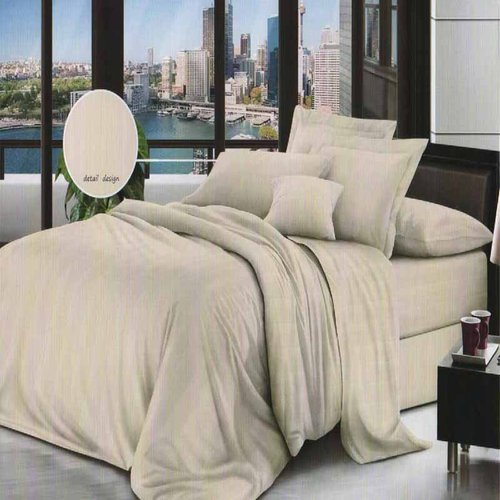 ROSEWELL Bed Cover Microtex Emboss Salur 120x200cm Cream
